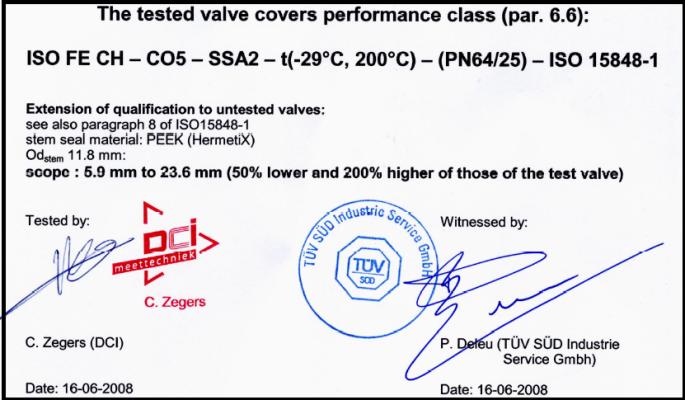 ISO 15848 Exemple Habonim